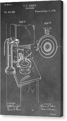 Vintage Telephone Patent Canvas Print by Dan Sproul
