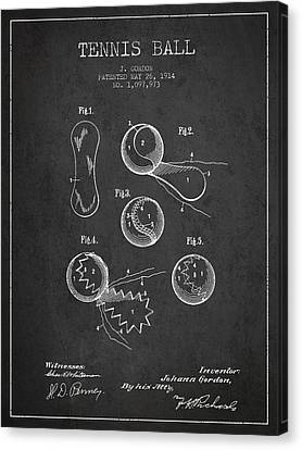 Vintage Tennnis Ball Patent Drawing From 1914 Canvas Print by Aged Pixel