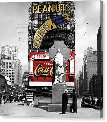 Vintage Times Square 1 Canvas Print by Andrew Fare