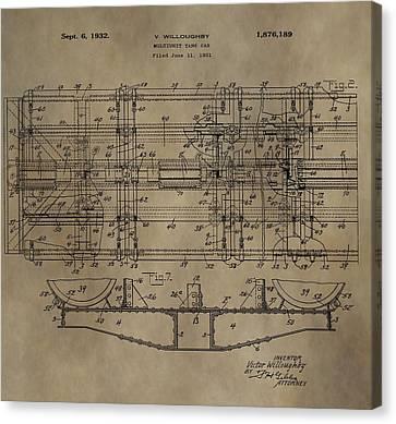 Vintage Train Car Patent Canvas Print by Dan Sproul
