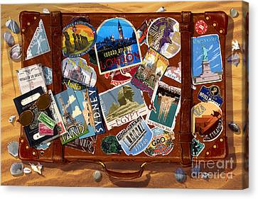 Vintage Travel Case Canvas Print by Garry Walton