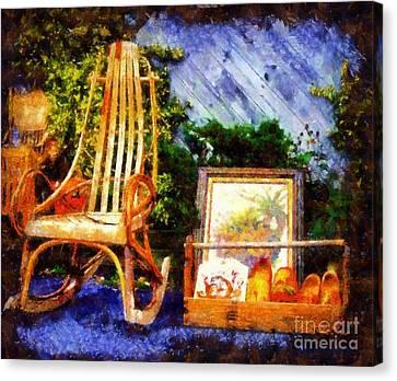 Vintage Treasures Milford Canvas Print by Janine Riley