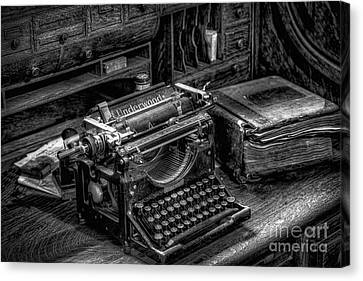 Vintage Typewriter Canvas Print by Adrian Evans