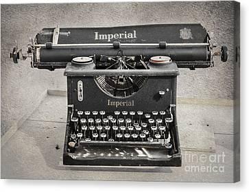 Vintage Typewriter Canvas Print by Svetlana Sewell