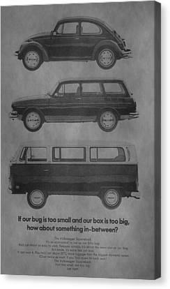 Vintage Volkswagen Ad 1971 Canvas Print by Dan Sproul