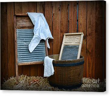 Vintage Washboard Laundry Day Canvas Print by Paul Ward