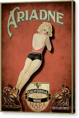 Vintage Wine Ad II Canvas Print by Cinema Photography