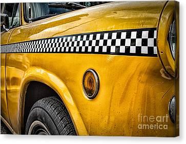 Vintage Yellow Cab Canvas Print by John Farnan