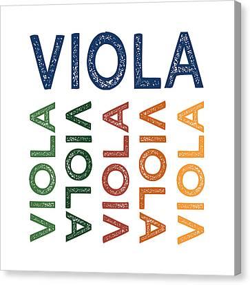 Viola Cute Colorful Canvas Print by Flo Karp