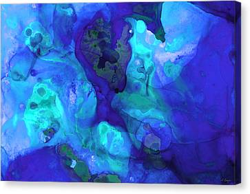 Violet Blue - Abstract Art By Sharon Cummings Canvas Print by Sharon Cummings