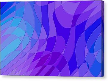Violet Blue Abstract Canvas Print by L Brown