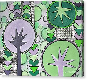 Violet-green Canvas Print by Home Art