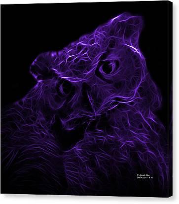 Violet Owl 4229 - F M Canvas Print by James Ahn