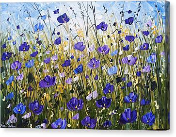 Violet Poppifield Canvas Print by Jolina Anthony