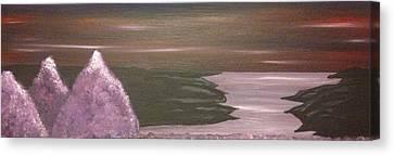 Violet Sea Canvas Print by Scott Wilmot