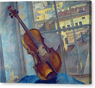 Violin Canvas Print by Kuzma Sergeevich Petrov-Vodkin