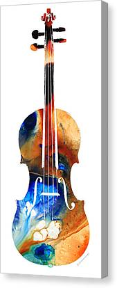 Violin Art By Sharon Cummings Canvas Print by Sharon Cummings