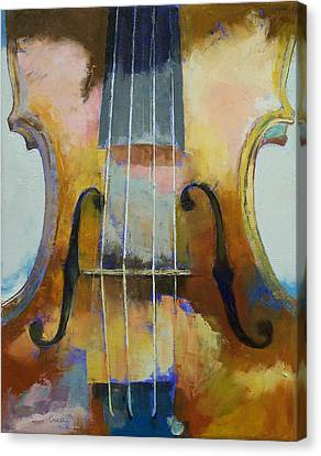 Violin Painting Canvas Print by Michael Creese