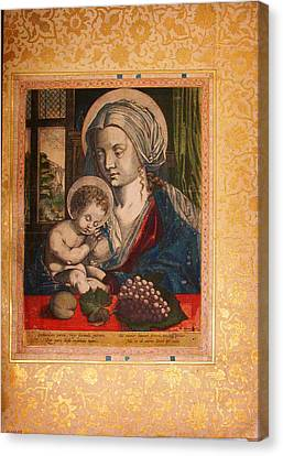 Virgin And Child Canvas Print by Celestial Images