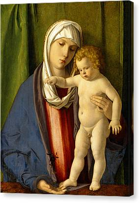 Virgin And Child Canvas Print by Giovanni Bellini
