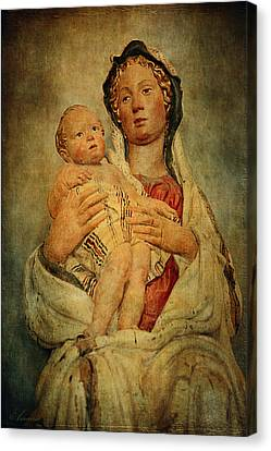 Virgin And Child  Canvas Print by Maria Angelica Maira