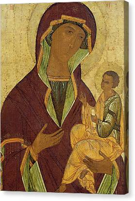 Virgin And Child Canvas Print by Russian School