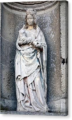 Virgin Mary With Child Canvas Print by Olivier Le Queinec