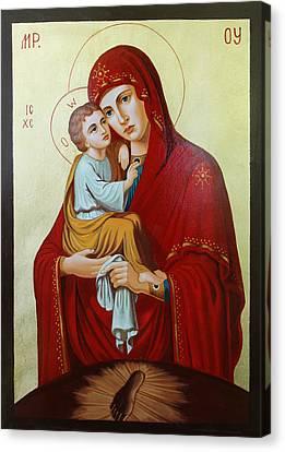 Virgin Of Pachev Canvas Print by Janeta Todorova