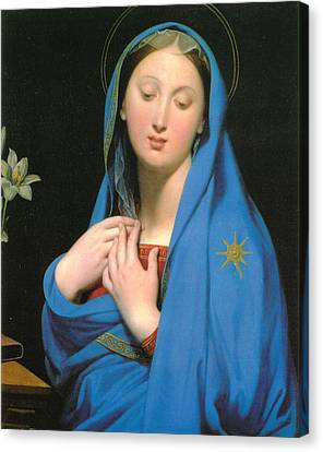 Virgin Of The Adoption Canvas Print by Jean Auguste Dominique Ingress