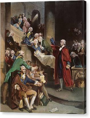 Virginia: Patrick Henry, 1765 Canvas Print by Granger