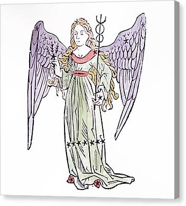 Virgo An Illustration From The Poeticon Canvas Print by Italian School