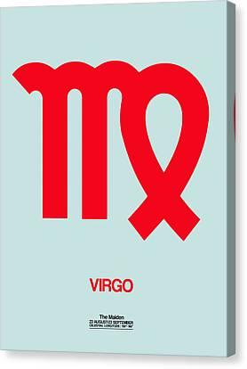 Virgo Zodiac Sign Red Canvas Print by Naxart Studio