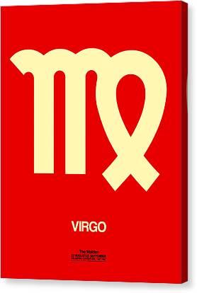 Virgo Zodiac Sign Yellow Canvas Print by Naxart Studio