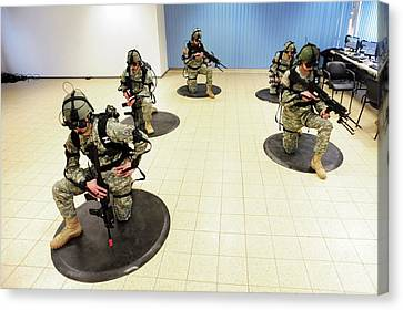 Virtual Reality Military Training Canvas Print by U.s Army