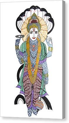 Vishnu II Canvas Print by Kruti Shah
