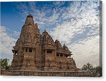 Vishvanatha Temple Khajuraho India Unesco World Heritage Site Canvas Print by Rudra Narayan  Mitra