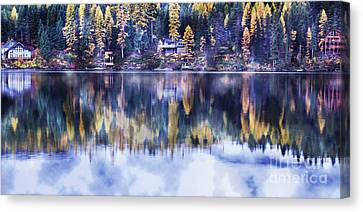 Visions- Lake Inez Canvas Print by Janie Johnson
