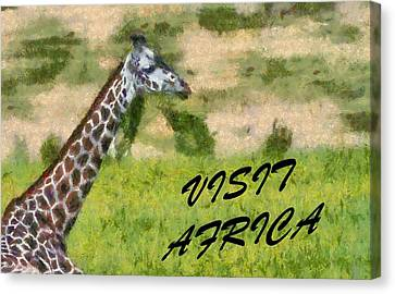 Visit Africa Poster Canvas Print by Dan Sproul