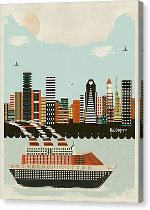 Visit Baltimore Maryland Canvas Print by Bri B