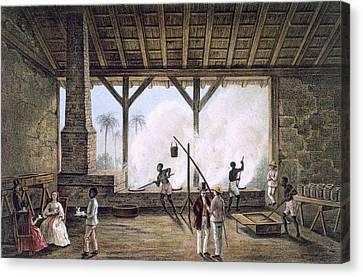 Vista De Una Casa De Calderas, Or Canvas Print by Spanish School