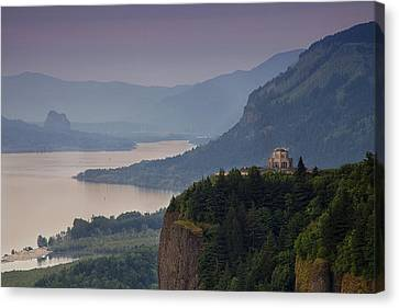 Vista House And The Gorge Canvas Print by Andrew Soundarajan