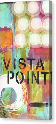 Vista Point- Contemporary Abstract Art Canvas Print by Linda Woods