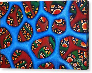 Vital Network Triptych II Canvas Print by Nancy Mueller