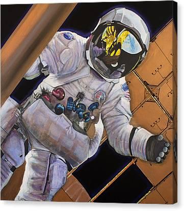 Vitruvian Man- Alan Bean.  Canvas Print by Simon Kregar