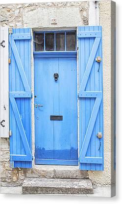Vivid Blue Door Canvas Print by Georgia Fowler