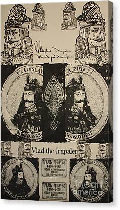 Vlad The Impaler Canvas Print by  Michael Kulick