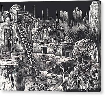 Voice Of Ancient Treasures Canvas Print by Robert Tiritilli