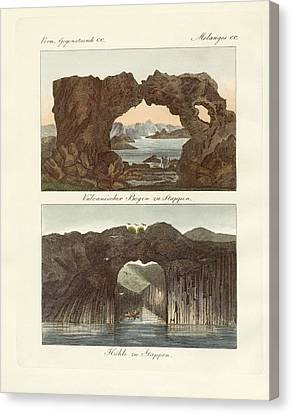 Volcanic Arcs And Caves Canvas Print by Splendid Art Prints