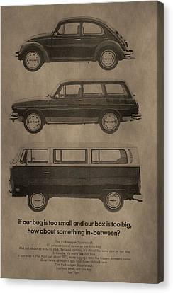 Volkswagen Advertisement Canvas Print by Dan Sproul