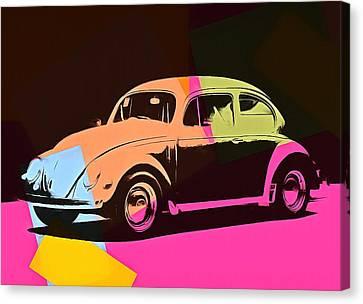 Volkswagen Beetle Pop Art 2 Canvas Print by Dan Sproul